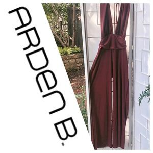 Arden B. Power Pose  Halter Jumpsuit